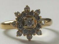 Vintage 18ct Gold Diamond Daisy Cluster Ring