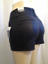 """Womens Black Work Shorts Size 11/12 Waist 34+"""" Inseam 3"""" By Maurices Relaxed Fit"""