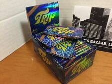 3 Packs of 1 1/4 Trip 2 Clear Cellulose Transparent Cigarette Rolling Papers