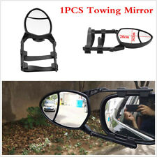 1Pcs Car Oval Trailer Towing Mirror Extension Clip-on Adjustable Universal Black