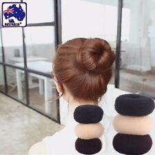 2pcs Sponge Style Donut Hair Styling Bun Maker Tool Ball Roller Black JHBAN 17