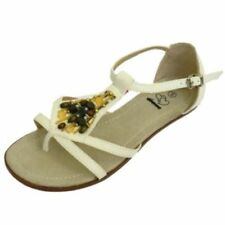 Sandalias con tiras de mujer de color principal blanco Talla 42