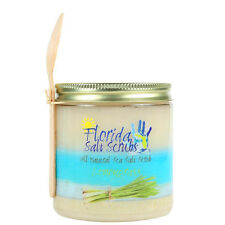 Florida Salt Scrubs Lemongrass Body Feet Hands Bath Salt Scrub 12.1oz Medium Jar