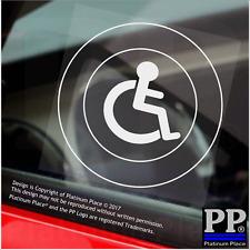 1x disattivato solo logo-Round-Finestra Adesivo-segno, auto, distintivo, avviso, Avvertenza, Sedia