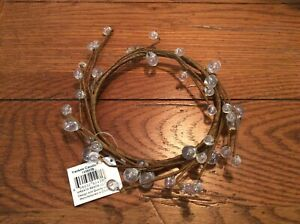 New Yankee Candle Wreath Beads Large Jar Clear Clinger Wrap Sitter Decorative