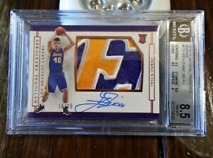 2016-17 PANINI NATIONAL TREASURES IVICA ZUBAC AUTO BGS 10 PATCH AUTOGRAPH 18/25
