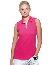Maglie e camicie da donna senza maniche rosa con colletto