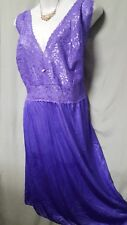 "Amoureuse PURPLE Nightgown Robe  PEIGNOIR SET 41"" Long Sz  3X  56"" BUST Gift"