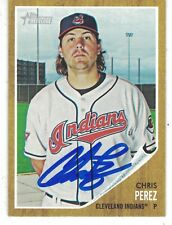 2011 Topps Heritage Chris Perez Cleveland indians Authentic Autograph COA