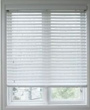 "Beautiful 2"" Faux Wood Blinds 34.5"" X 60"" Snow White Po# 1801-Law Blinds -(A17)"