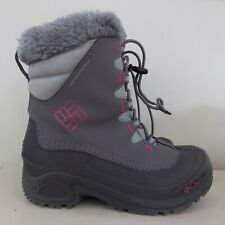 Columbia Girls Winter Snow Boots Youth Gray Pink 200 grams Size 4