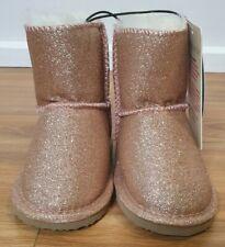 PETER ALEXANDER PJS Kids Girl Pink Glitter Homeboots Ugg 7/8, 9/10 BNWT Slippers