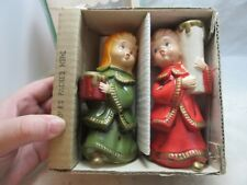 Vintage Star Creation Candle Carolers Xmas figurines with box