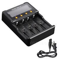 Fenix ARE-C2 Plus 4 Channel Digital Multi-Charger -18650 16340 14500 AA AAA C