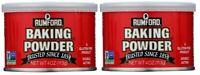 Rumford Aluminum Free Baking Powder 4 oz Can 2 Pack