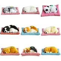 Lifelike Animated Breathing Stuffed Dog Puppy Plush Toy Home Decor Children Gift