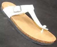 NEW Women MUDD EARTH WHITE Thongs SlipOn Casual Fashion Flat Sandals Dress Shoes