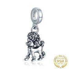 💖💖 Poodle Dog Paw Genuine 925 Sterling Silver Charm Bead Bracelet 💖💖