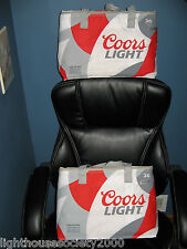 Coors Light Beer Cooler Bags Collapsible Insulated 2015 Set Of 2 Holds 36 Cans !