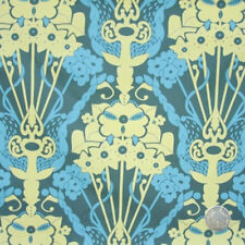 Anna Maria Horner Drawing Room Nouveau Bouquet Teal Cotton Fabric by the Bolt