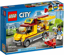 LEGO CITY - PIZZA VAN / FOOD TRUCK WITH SCOOTER/MINIFIGURES/UMBRELLA - SET 60150