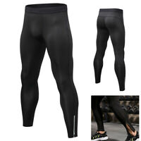Mens Compression Legging Athletic Workout Bottoms Dri fit Ankle Zipper Tight fit