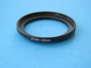 37mm to 43mm Step Up Step-Up Ring Camera Lens Filter Adapter Ring 37mm-43mm