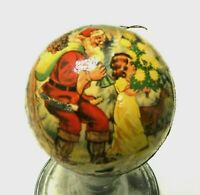 Vintage German Paper Mache CANDY CONTAINER With Santa Christmas Ornament
