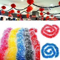 2M Christmas Tree Wedding Party Ornaments Garland Ribbon Tinsel Hanging Decor