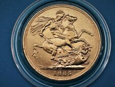 More details for vic 1885 melbourne yh full gold sovereign vf circulated to me. (private seller).