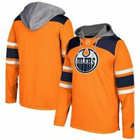 AUTHENTIC ADIDAS NHL EDMONTON OILERS JERSEY PULLOVER HOODIE HOCKEY JERSEY S $120