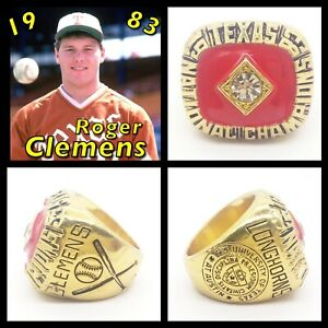 Texas Longhorns Roger Clemens 1983 Championship Ring Size 11