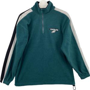 NFL Philadelphia Eagles Sz M VF Imagewear Fleece Pullover 1/4 zip Sweater Green