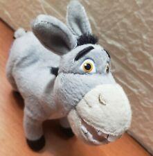 """DreamWorks - Shrek The Third - Grey Donkey - Soft Plush Toy  6"""" - Plastic Eyes"""