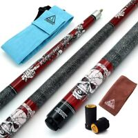 """CUESOUL ROCKIN 57"""" 21oz Maple Pool Cue with Cue Bag,Joint Protector Protector"""