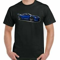 Nissan GTR T-Shirt Mens Car Enthusiast Drifting Racing Top Blue Classic