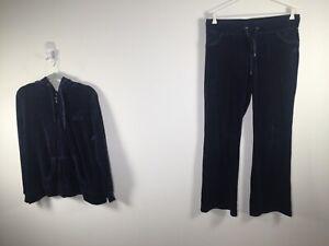 Daniel Hechter Sport mens navy velour tracksuit set jacket XL + sweatpants L