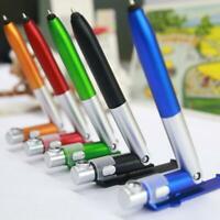 Multifunction LED Mobile Phone Stand Holder Pen 4in1 Laser Ballpoint Pen Pointer