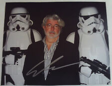 GEORGE LUCAS Autographed 8x10 Photograph AUTOGRAPH w/ STAR WARS Stormtroopers
