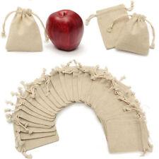 30Pcs Mini Linen Jute Drawstring Gift Bags Pouch Wedding Party Favor Sacks Bag