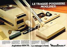 PUBLICITE ADVERTISING 045  1979  MOULINEX aspirateur 1004 TE ( 2 pages)