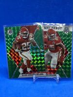 2020 Mosaic Green Base And NFL Debut Clyde Edwards-Helaire (2) Card Lot