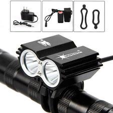 SolarStorm 5000Lm 2x  XM-L U2 LED Bike Light Phare Lampe Frontale Tactique