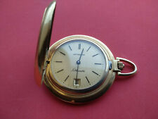 Vintage Wittnauer Silhouette 17J Gold Plated Full Hunter Pocket Watch _84