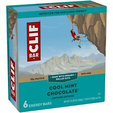 NEW SEALED CLIF ENERGY BAR COOL MINT CHOCOLATE 14.40 OZ 10G PROTEIN NON-GMO