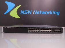 Cisco Catalyst WS-C3650-24TS-L 24-Port Managed Gigabit Switch w/ Rack Ears