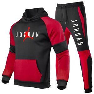 Jordan 23 Tracksuit Set Hoodie+Sweatpants Jogging Pullover Sweatsuit Men