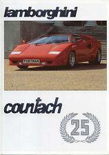 Lamborghini Countach 25th Anniversary 1988 Original UK Market Brochure