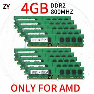40GB 10x 4GB DDR2 PC2-6400U 800MHz 1.8V AMD Desktop Memory RAM For Kingston UK