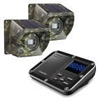1800ft Driveway Alarm Wireless Solar Powered Motion Sensors Outside Weatherproof